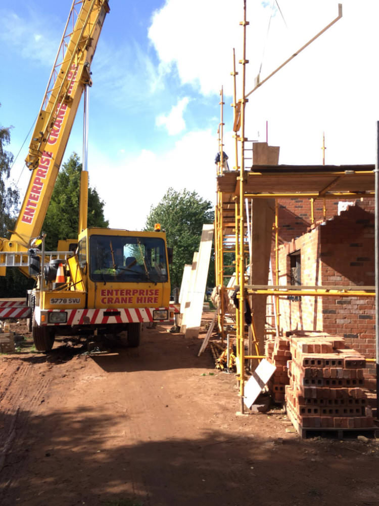 New Build Being Constructed In Ross On Wye